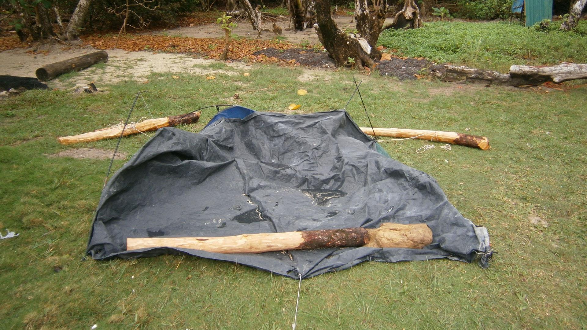 Sabah çadır bu halde idi