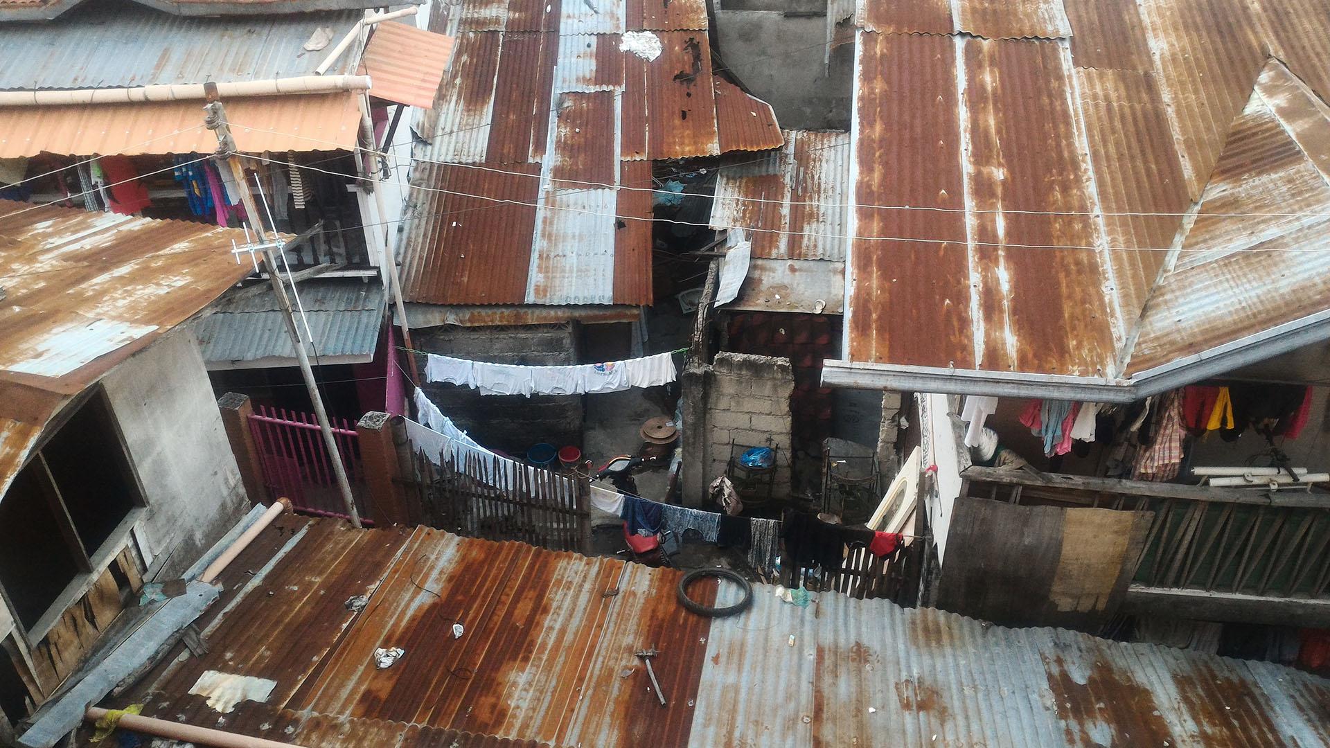 Stopover hostelin arka mahallesi, gecekondular
